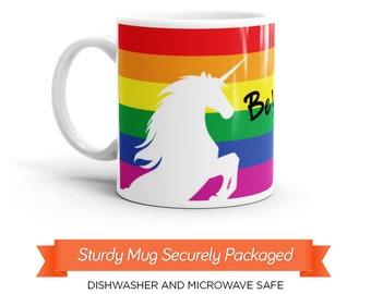 Be You Unicorn Mug, Gay Pride Flag Mug, Rainbow Flag Mug, LGBT Coffee Mug, Unicorn Rainbow Mug, Magical Unicorn Mug, Majestic Unicorn, 20x12