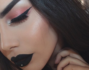 Gothic -Black-Out Matte Black Lipstick