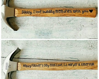 Fathers Day Hammer, Personalized Hammer, Gifts for Dad, Father's day gift,  Dads gift / hammer / Personalized gift / men gift