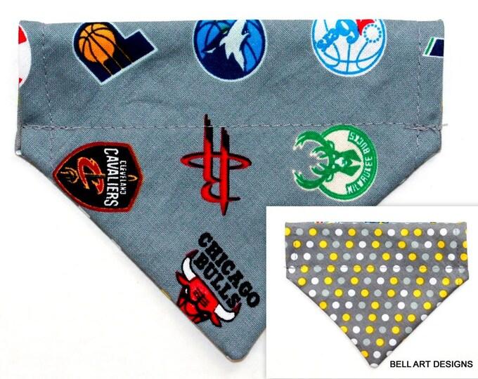 NBA, Baskeball~ Over the Collar ~ Reversible ~ Dog Pet Bandana ~ Bell Art Designs ~ Extra Extra Small 221