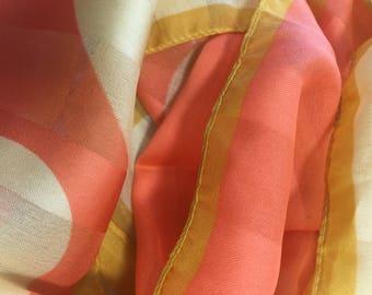 Pop Mod Italian Polyester Scarf