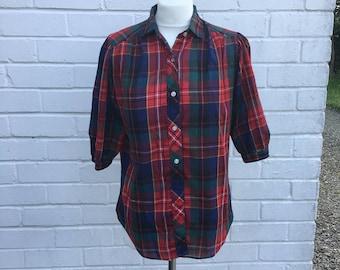 Vintage Cheryl Teigs Plaid Shirt