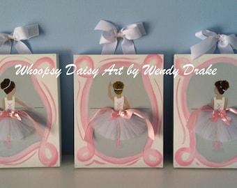 Ballerina nursery, Pink ballerina art, Girl nursery decor, wall art for nursery, nursery art for girl, Pink and gray nursery,  Pink nursery