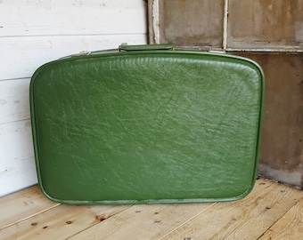 1960's Green Suitcase