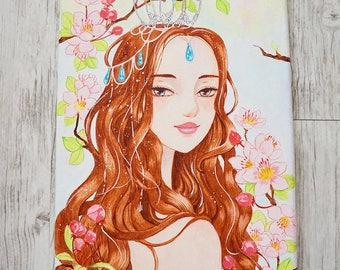 Original Acrylic Painting. Sakura.