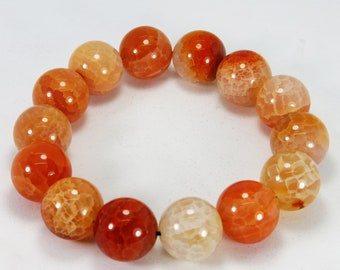 Natural Orang Fancy Stone Bracelets Free Size