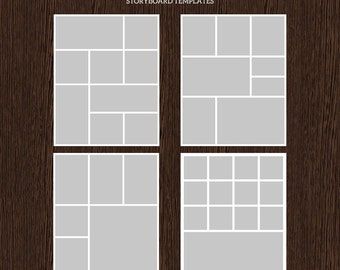 16x20 Photo Storyboard Templates - Photo Collage Template - PSD Template - Resize to 8x10 - For Photographers - Instant Download - S218