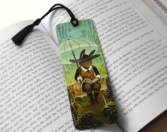 Rainy Day Rabbit Bookmark