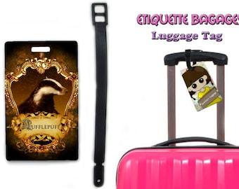 harry potter hufflepuff-  #1-034 - luggage tag name