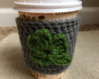 Shamrock Coffee Cozy