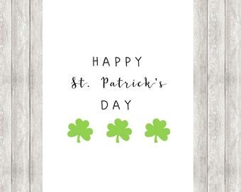 Digital Happy St. Patrick's Day Printable