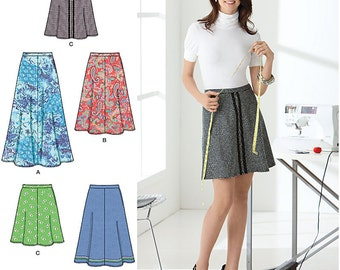 Simplicity Sewing Pattern 2314 Misses' Skirt in three lengths  Size:  A  6-8-10-12-14-16-18  Uncut