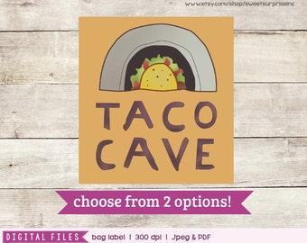 Dragons Love Tacos - Dragon Love Tacos Bag Label - Bag Label - 1st Birthday - 2rd Birthday - 3rd Birthday - 4th Birthday