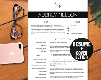 Resume Template / Modern Resume Template Instant Download for Word / Resume Template Word / Resume package with Icons