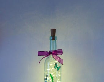 Butterfly Gifts, Bottle Lamp, Birthday Gift For Her, Christmas Gift For Her, Housewarming Gift, Unusual Gift for Best Friend, Fairy Lights