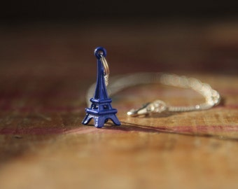 Eiffel tower necklace Paris travel jewellery travelling year abroad gift gap year gift kitsch gift mothers day parisian style etsy uk