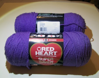 Lavender Red Heart Super Saver yarn worsted weight - 1004