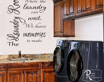 Laundry Room Decal -Laundry Decal-Laundry Wall Decal-Laundry Room Decor-Laundry Room Art-Laundry Decals-Laundry Quote-Laundry Wall Quotes