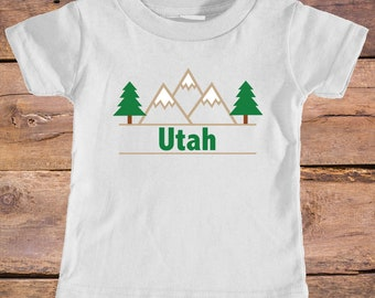 Utah Mountain & Trees - Eco Tri-Blend Infant T-Shirt