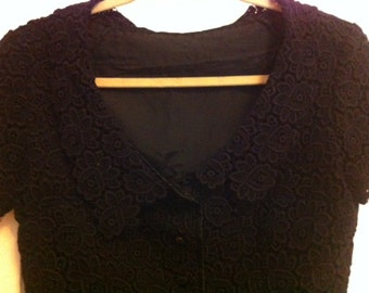 Vintage Lace Bolero Jacket 50s or 60s