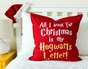 """Christmas Decor """"All I Want for Christmas..."""" Pillow Christmas Gift, Gift for Her, Gift for Him"""