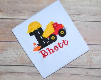 Construction birthday shirt, dump truck birthday party, truck birthday shirt, construction birthday party, boys birthday shirt, truck outfit