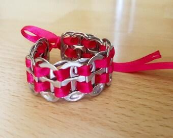 Recycled soda tab bracelet Pi/Sl