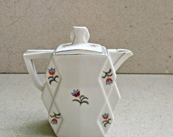 Art deco coffee pot / porcelain deco coffee pot / Czechoslovakian porcelain coffee pot / Vintage Czechoslovakian porcelain