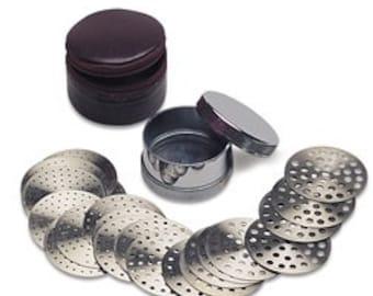 Diamond Sieve Set 70 mm diameter 23 plates jewelry tool measure beads gemstones WA 192-156