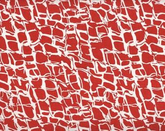 Red Cheetah --- Animal Print Fabric ---- Fabric By The Yard --- He Said She Said