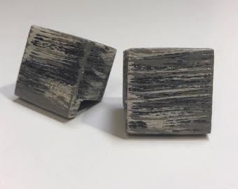 Custom Square Wood Knobs