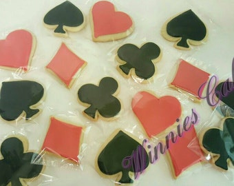 Playing Card Symbols Themed Cookies