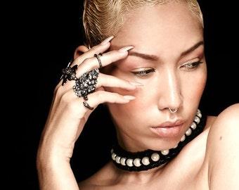 Pearl + Leather Suspension Collar