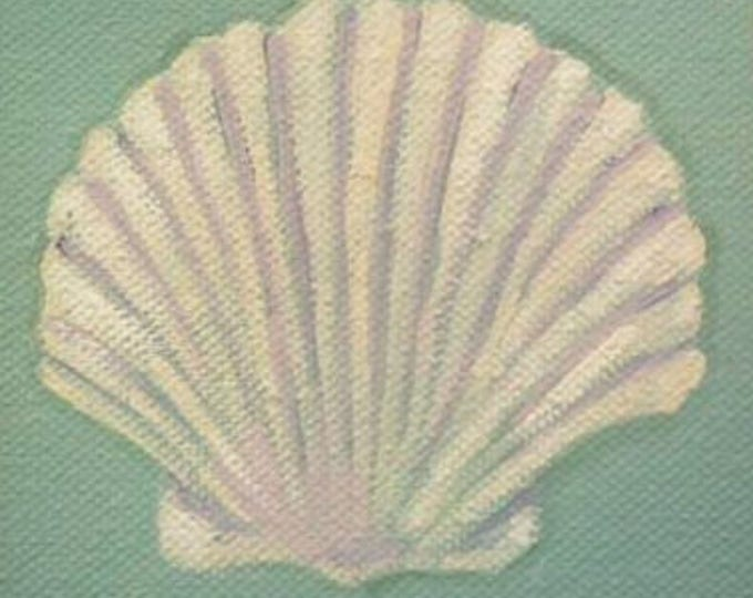 Scallop Shell blank greeting card