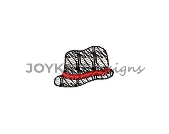 Mini Fill Stitch Houndstooth Hat Embroidery Design