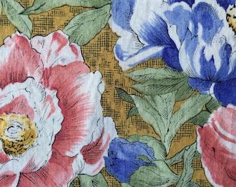 150 Clothworks (1 HALF yard available) Floral Fabric