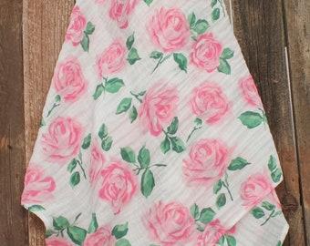 47x47 Rose Garden Muslin/Double Gauze Swaddling Blanket
