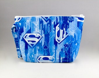 Icy Blue Superman - House of El Makeup Bag - Accessory - Cosmetic Bag - Pouch - Toiletry Bag - Gift