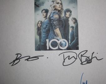 The 100 Signed TV Script Screenplay Autograph X6 Eliza Taylor Marie Avgeropoulos Devon Bostick Bob Morley Henry Ian Cusick Chris Larkin