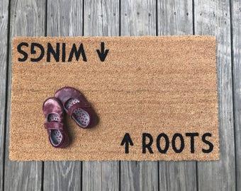 Roots / Wings™ Door Mat (doormat)