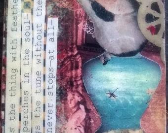 Poetry Bird Magnet