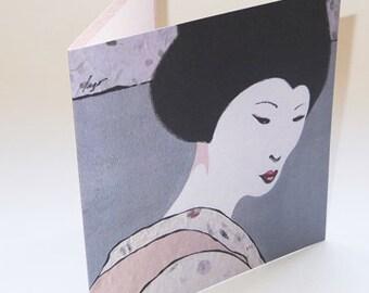 JAPAN11 greeting card