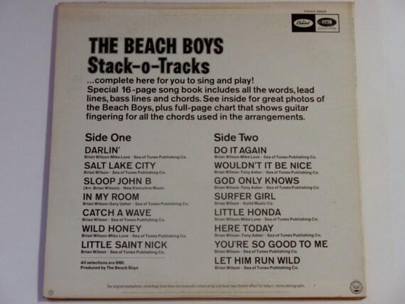 Rare Vinyl The Beach Boys Stack O Tracks W Sheet Music