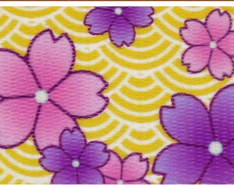 1 Inch Purple April Blossoms Polyester Webbing Martingale Collar