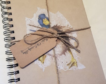 Handcrafted duck notepad notebook