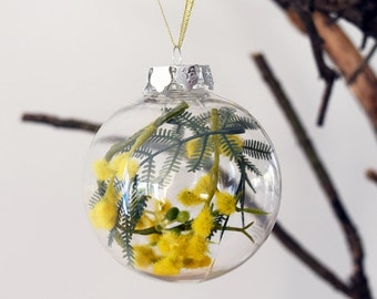 Australian Golden Wattle Christmas Bauble