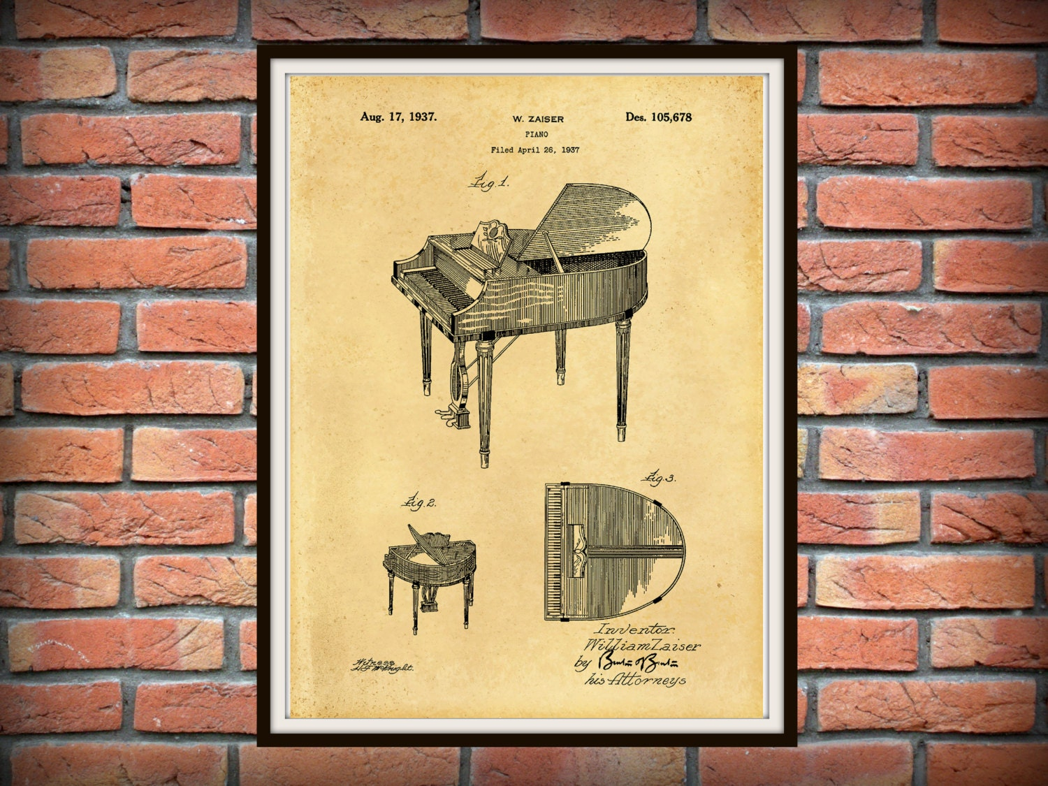 Old Fashioned Piano Wall Art Gift - Art & Wall Decor - hecatalog.info
