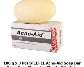 3x100g STIEFEL Acne Aid Soap Bar Deep Pore Cleansing Pimple Oily Skin Facial Free Tracking