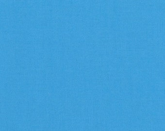 Alegria Kona Cotton, Blue Fabric, Robert Kaufman Fabric, Half Yard