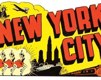 Vintage Style New York CIty  Travel Decal sticker